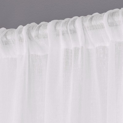 Belgian Textured Linen Sheer Rod Pocket Window Curtain Panel In Belgian Sheer Window Curtain Panel Pairs With Rod Pocket (View 12 of 46)