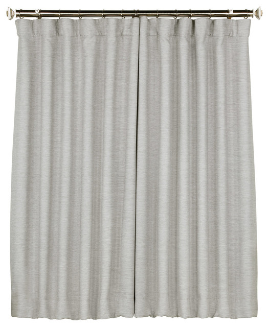 """Bellino Blackout Single Panel Curtain, Vista Gray, 50""""x63"""" Within Montpellier Striped Linen Sheer Curtains (#4 of 50)"""