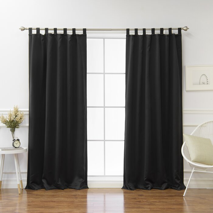 Bennett Basic Insulated Solid Blackout Thermal Tab Top Curtain Panels Within Insulated Cotton Curtain Panel Pairs (#7 of 50)