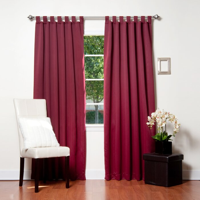 Bennett Basic Insulated Solid Blackout Thermal Tab Top Curtain Panels Within Solid Insulated Thermal Blackout Long Length Curtain Panel Pairs (View 22 of 50)