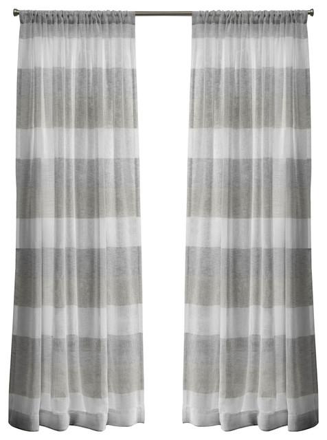 "Bern Rod Pocket Window Curtain Panels – 50"" X 84"", Dove Grey, Set Of 2 /  Pair With Regard To Belgian Sheer Window Curtain Panel Pairs With Rod Pocket (View 13 of 46)"