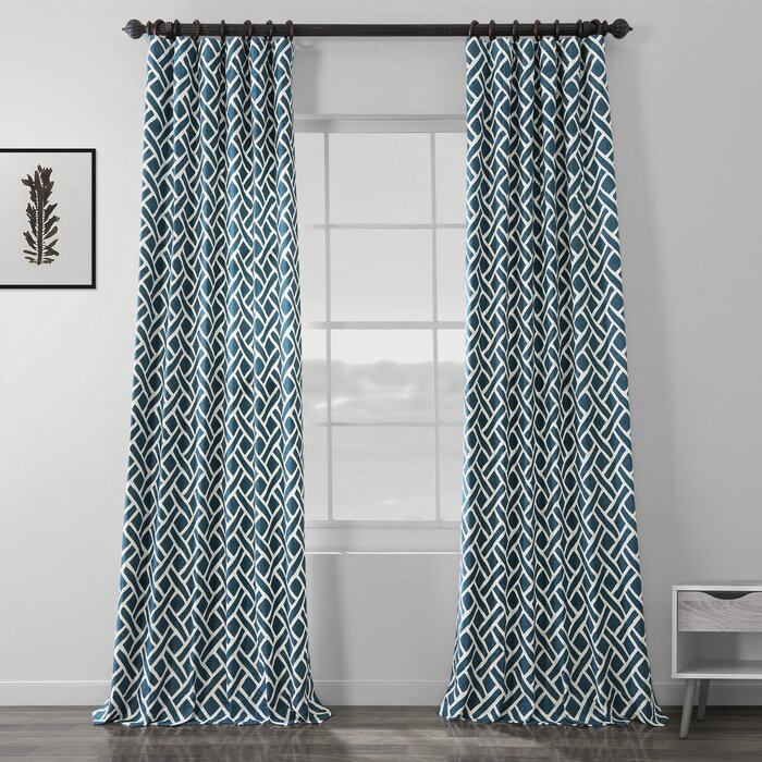 Berumen Geometric Room Darkening Rod Pocket Curtain Panels In Luxury Collection Summit Sheer Curtain Panel Pairs (View 11 of 50)