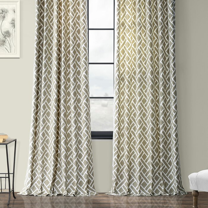 Berumen Geometric Room Darkening Rod Pocket Curtain Panels Pertaining To Luxury Collection Summit Sheer Curtain Panel Pairs (#7 of 50)