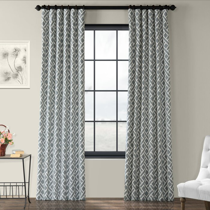Berumen Geometric Room Darkening Rod Pocket Curtain Panels With Luxury Collection Summit Sheer Curtain Panel Pairs (#9 of 50)