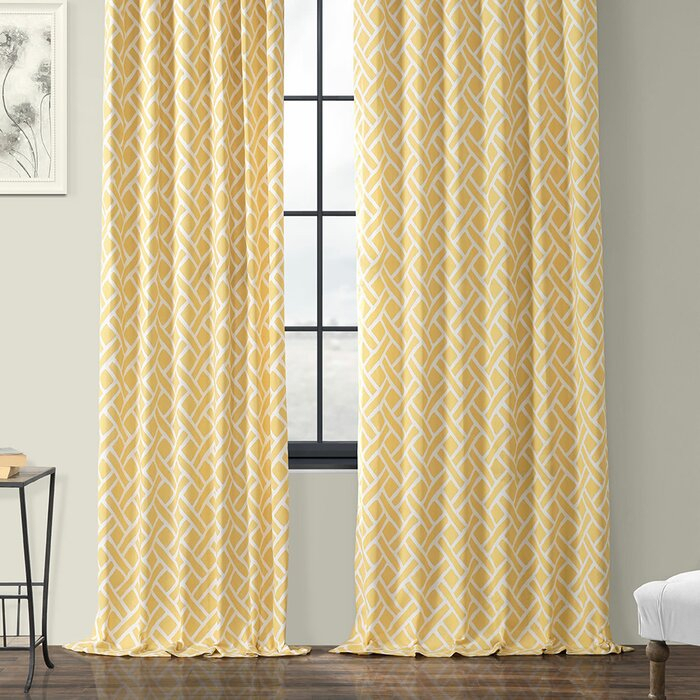 Berumen Geometric Room Darkening Rod Pocket Curtain Panels With Regard To Luxury Collection Summit Sheer Curtain Panel Pairs (#11 of 50)