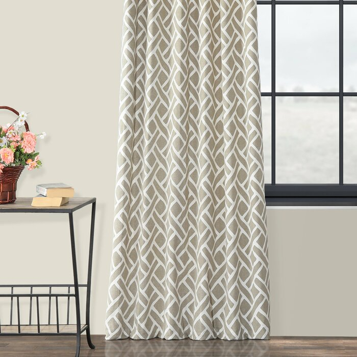 Berumen Geometric Room Darkening Rod Pocket Curtain Panels With Regard To Luxury Collection Summit Sheer Curtain Panel Pairs (#10 of 50)
