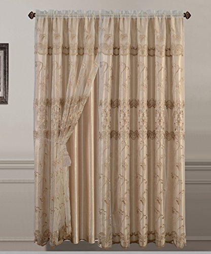Best 19 Embroidered Sheer Curtains – Top Decor Tips Regarding Luxury Collection Venetian Sheer Curtain Panel Pairs (#4 of 36)