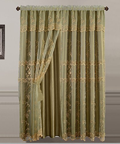 Best 19 Embroidered Sheer Curtains – Top Decor Tips Within Luxury Collection Venetian Sheer Curtain Panel Pairs (#5 of 36)