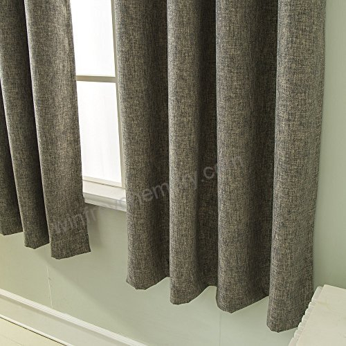 Best Dreamcity Faux Linen Blackout Curtain Drapes For Intended For Edward Moroccan Pattern Room Darkening Curtain Panel Pairs (View 4 of 50)