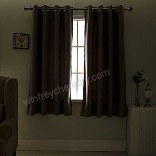 Best Dreamcity Faux Linen Blackout Curtain Drapes For Within Edward Moroccan Pattern Room Darkening Curtain Panel Pairs (View 5 of 50)