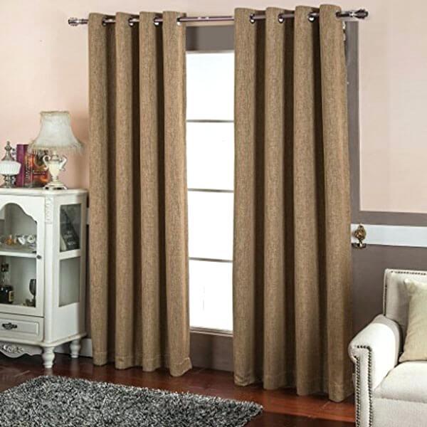 Best Faux Linen Blackout Curtains Burlap Decorating With Throughout Faux Linen Extra Wide Blackout Curtains (View 7 of 50)