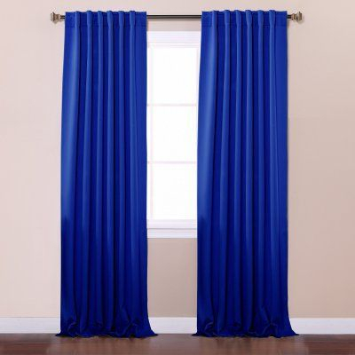 Best Home Fashion Blackout Curtain Panels Royal Blue – Solid In Solid Cotton True Blackout Curtain Panels (#9 of 50)