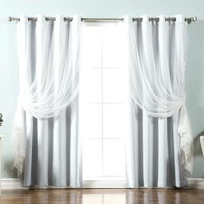 Best Home Fashion Curtains Silver Grommet Solid Blackout Mix Within Mix And Match Blackout Blackout Curtains Panel Sets (#20 of 50)