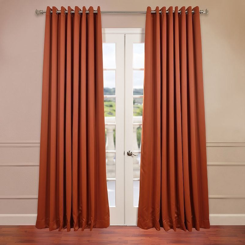 Best Home Fashion Wide Width Flame Retardant Thermal Regarding Silvertone Grommet Thermal Insulated Blackout Curtain Panel Pairs (View 33 of 35)