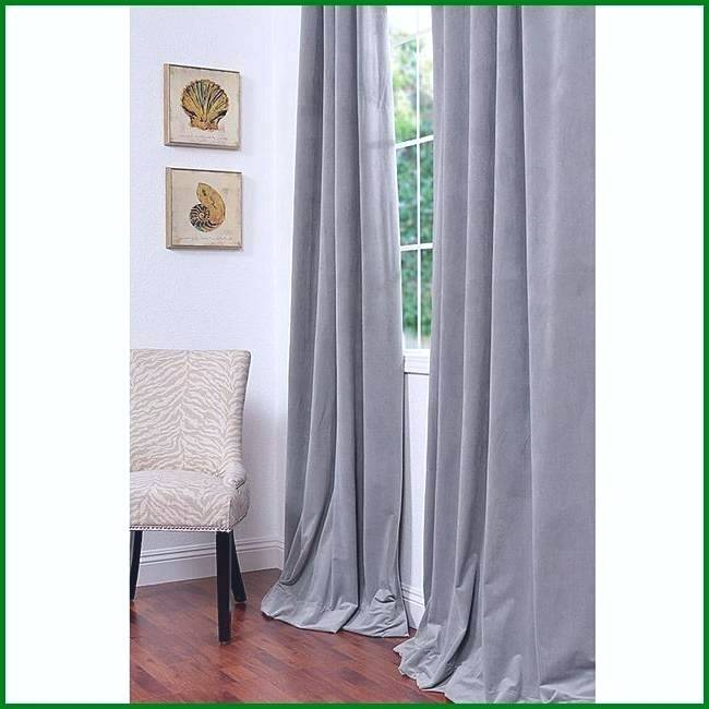Best Price Curtains Buy Signature Silver Grey Blackout In Signature Blackout Velvet Curtains (#1 of 50)
