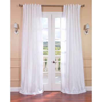 Best Silk Curtain Panels Products On Wanelo In Ice White Vintage Faux Textured Silk Curtain Panels (View 1 of 50)