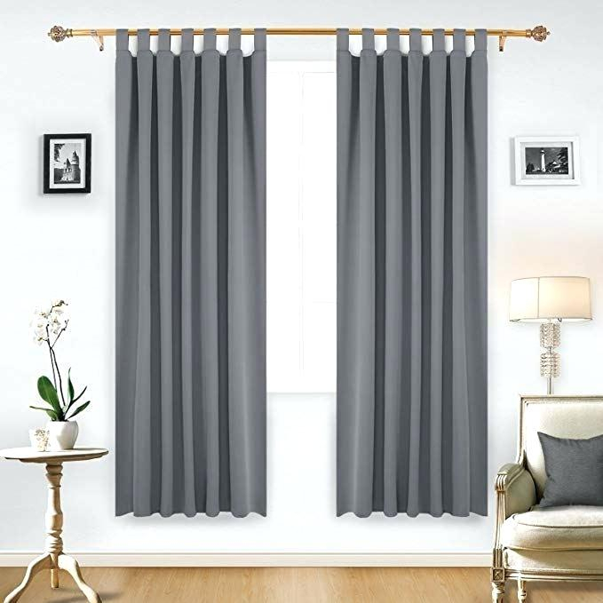 Best Thermal Insulated Blackout Curtains Deconovo Grommet Pertaining To Superior Solid Insulated Thermal Blackout Grommet Curtain Panel Pairs (#15 of 45)