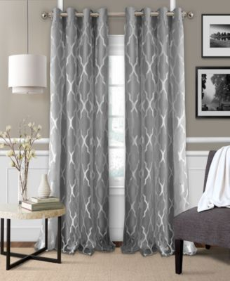 Bethany 52 X 84 Sheer Overlay Blackout Grommet Curtain Panel Within Blackout Grommet Curtain Panels (View 12 of 40)