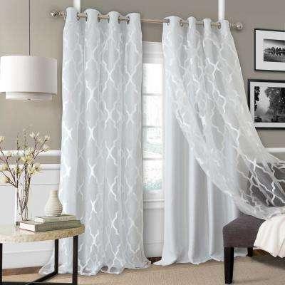 Bethany Sheer Overlay Blackout Window Curtain Regarding Elrene Aurora Kids Room Darkening Layered Sheer Curtains (View 8 of 40)