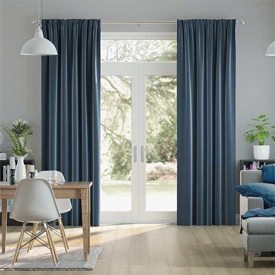 Big Royal Blue Curtains – Camata (View 14 of 37)