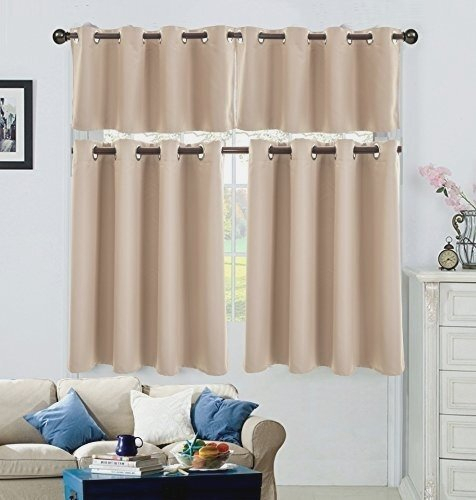 Big Space Grommet Kitchen Curtains – Eggplant Show (View 7 of 50)
