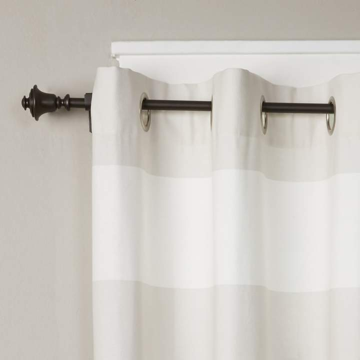 Birch Lane™ Heritage Buckwalter Single Curtain Rod And Pertaining To Elowen White Twist Tab Voile Sheer Curtain Panel Pairs (View 7 of 36)