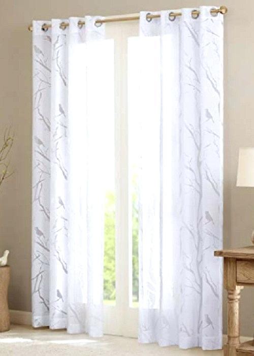 Bismarck Grommet Top Sheer Curtain Panel Park Window S Regarding Delano Indoor/outdoor Grommet Top Curtain Panel Pairs (View 28 of 45)