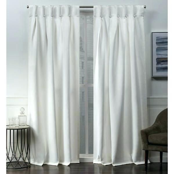 Black And Off White Curtains – Enterpriseldn Pertaining To Sateen Woven Blackout Curtain Panel Pairs With Pinch Pleat Top (#5 of 40)