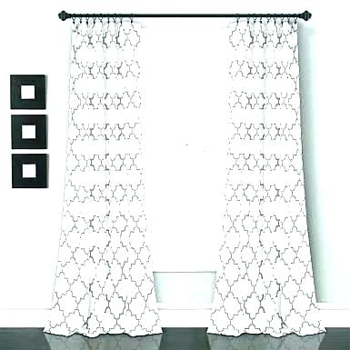 Black And White Curtain Panels Purple Curtains Grey Green In Floral Pattern Room Darkening Window Curtain Panel Pairs (View 5 of 44)