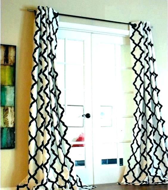 Black And White Geometric Curtains – Vicis Labs With Geometric Linen Room Darkening Window Curtains (View 8 of 50)