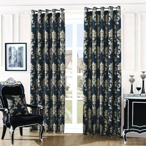 Black Damask Curtains – Himvalleymanali (#11 of 50)