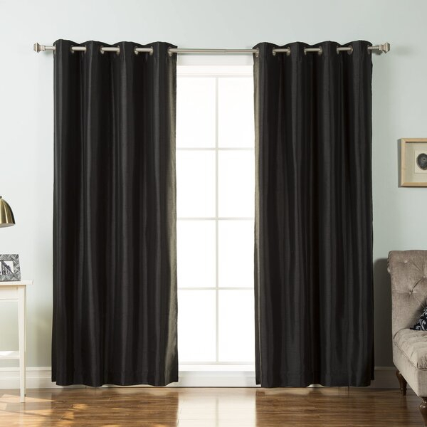 Black Faux Leather Curtains | Wayfair (View 2 of 42)