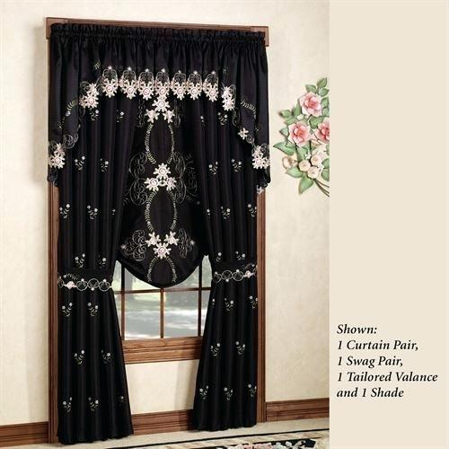 Black Floral Curtain – Grownupglam (View 8 of 50)