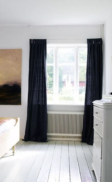 Black Linen Curtain | Room In 2019 | Linen Curtains, Black Intended For Vue Elements Priya Tab Top Window Curtains (View 8 of 36)