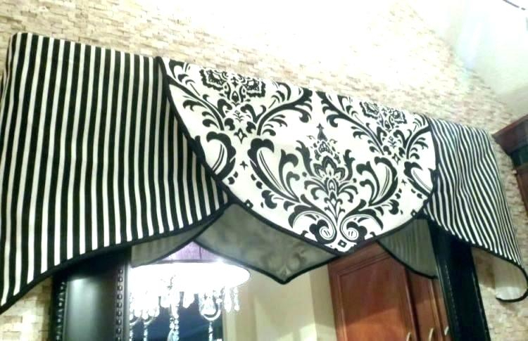 Black White Curtain Valance Shop Lace Luxurious Old World Inside Luxurious Old World Style Lace Window Curtain Panels (View 38 of 50)
