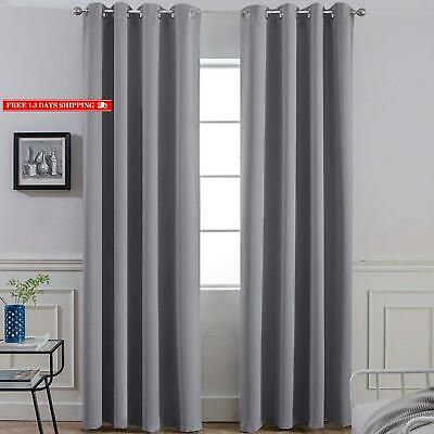Blackout 100% Blackout Curtains 84 Inches Long, 2 Thick W52 In Primebeau Geometric Pattern Blackout Curtain Pairs (#4 of 38)
