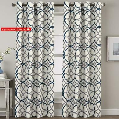 Blackout 100% Blackout Curtains 84 Inches Long, 2 Thick W52 Pertaining To Primebeau Geometric Pattern Blackout Curtain Pairs (#5 of 38)