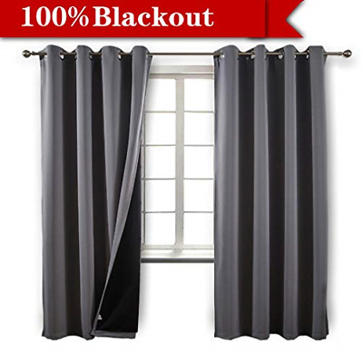 Blackout 100% Blackout Curtains 84 Inches Long, 2 Thick W52 Within Primebeau Geometric Pattern Blackout Curtain Pairs (#6 of 38)