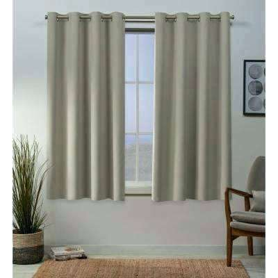 Blackout Curtain Panels Clearance – Yurimun Within Woven Blackout Curtain Panel Pairs With Grommet Top (#6 of 42)