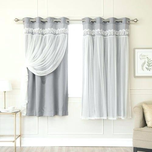 Blackout Curtain Set – Execupf In Superior Leaves Insulated Thermal Blackout Grommet Curtain Panel Pairs (#10 of 50)