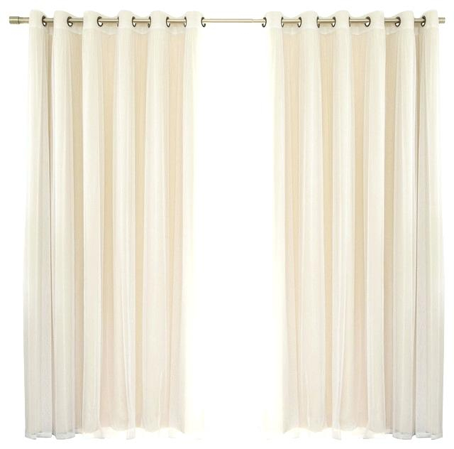 Blackout Curtain Set Grommet Window Panel Curtains Of 2 Pertaining To Superior Leaves Insulated Thermal Blackout Grommet Curtain Panel Pairs (#9 of 50)