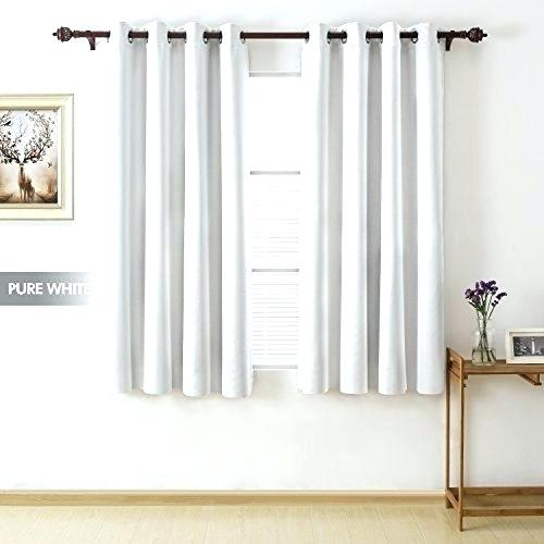 Blackout Curtains 63 Long Room Darkening Inch Total Grommet Within Raw Silk Thermal Insulated Grommet Top Curtain Panel Pairs (#11 of 46)