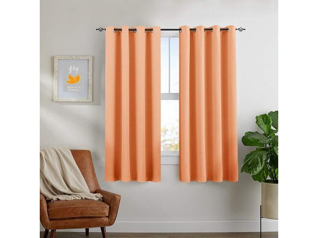 Blackout Curtains For Bedroom Triple Weave Room Darkening Curtain Panels  For Kids Room Thermal Insulated Living Room Drapes, Grommet Top, 1 Pair, For Woven Blackout Curtain Panel Pairs With Grommet Top (#7 of 42)