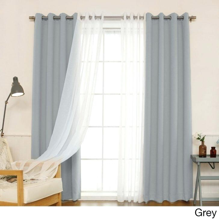Blackout Curtains Home Depot Medium Size Of Eclipse Blackout Regarding Insulated Grommet Blackout Curtain Panel Pairs (View 14 of 50)