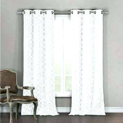 Blackout Curtains White Grommet W Polyester Room Darkening Inside Grommet Room Darkening Curtain Panels (View 6 of 50)