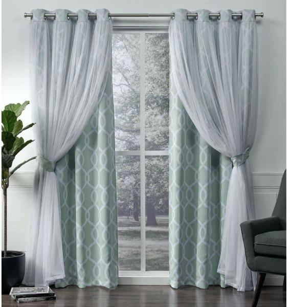 Blackout Curtains With Sheer Overlay – Kulertv Regarding Star Punch Tulle Overlay Blackout Curtain Panel Pairs (#24 of 50)