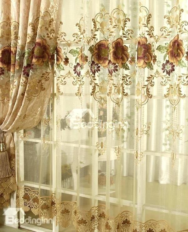 Blackout Curtains With Sheer Overlay – Newmobilephone Within Star Punch Tulle Overlay Blackout Curtain Panel Pairs (View 24 of 50)
