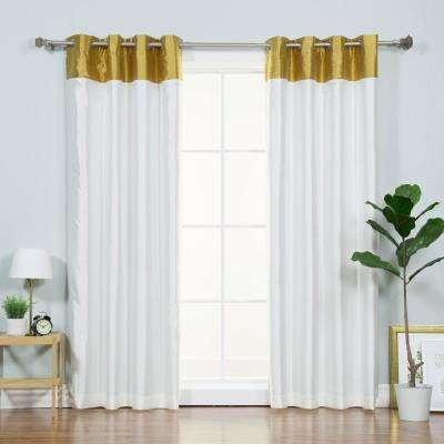 Blackout – Grommet – Border – Curtains & Drapes – Window For Bethany Sheer Overlay Blackout Window Curtains (View 3 of 50)