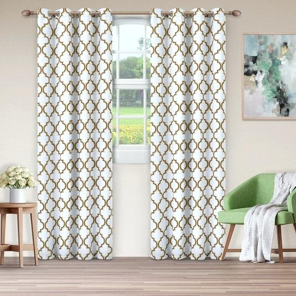 Blackout Grommet Curtains Sun Zero 2 Pack Textured Thermal Pertaining To Superior Leaves Insulated Thermal Blackout Grommet Curtain Panel Pairs (#15 of 50)
