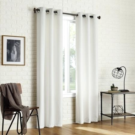 Blackout Grommet Curtains Sun Zero 2 Pack Textured Thermal With Regard To Insulated Grommet Blackout Curtain Panel Pairs (View 16 of 50)